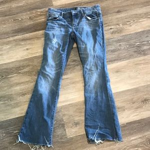 Gap baby boot distressed jeans